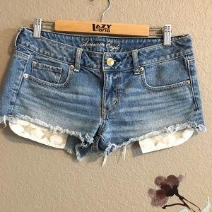 American Eagle jean shorts star pockets 8